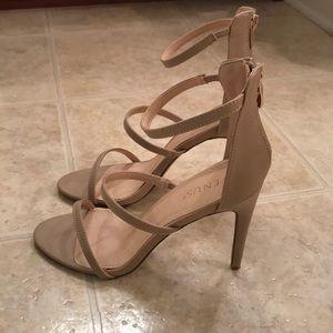 Venus Strappy Heels- Nude